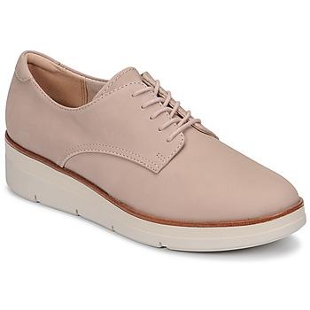Pantofi Femei Pantofi Derby Clarks Shaylin Lace Roz