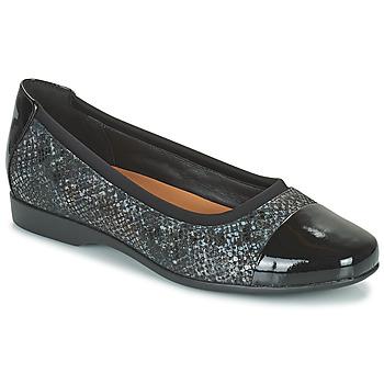 Pantofi Femei Balerin și Balerini cu curea Clarks UN DARCEY CAP2 Negru