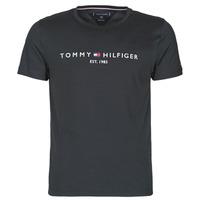 Îmbracaminte Bărbați Tricouri mânecă scurtă Tommy Hilfiger CORE TOMMY LOGO Negru