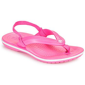 Pantofi Fete  Flip-Flops Crocs CROCBAND STRAP FLIP K Roz