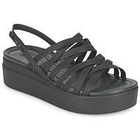 Pantofi Femei Sandale  Crocs CROCS BROOKLYN STRAPPY LOWWDGW Negru