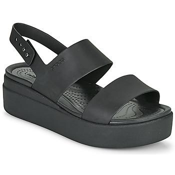 Pantofi Femei Sandale  Crocs CROCS BROOKLYN LOW WEDGE W Negru