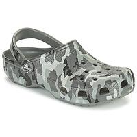 Pantofi Bărbați Saboti Crocs CLASSIC PRINTED CAMO CLOG Camuflaj / Gri