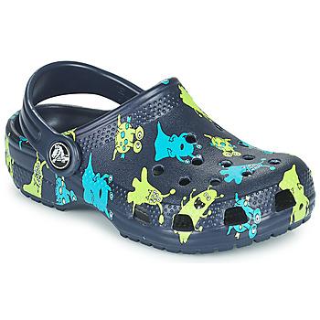 Pantofi Băieți Saboti Crocs CLASSIC MONSTER PRINT CLOG T Albastru