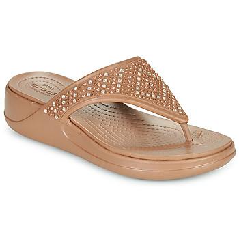 Pantofi Femei  Flip-Flops Crocs CROCS MONTEREY SHIMMER WGFPW Bronz