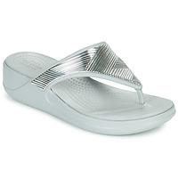 Pantofi Femei  Flip-Flops Crocs CROCS MONTEREY METALLIC WGFPW Argintiu