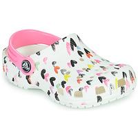 Pantofi Fete Saboti Crocs CLASSIC HEART PRINT CLOG K Alb / Heart