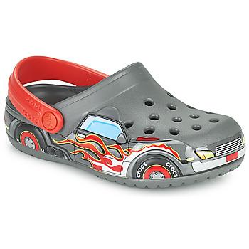 Pantofi Băieți Saboti Crocs FLTRUCKBANDCLOG K Gri / Roșu