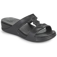 Pantofi Femei Papuci de vară Crocs CROCSMONTEREYSHIMMERSLPONWDG W Negru