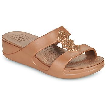 Pantofi Femei Papuci de vară Crocs CROCSMONTEREYSHIMMERSLPONWDG W Bronz