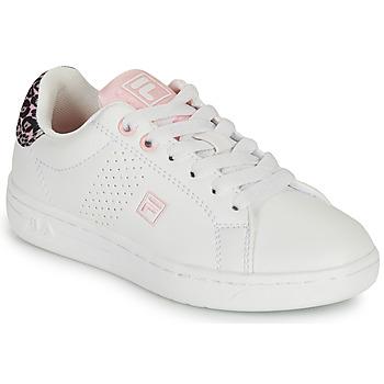Pantofi Fete Pantofi sport Casual Fila CROSSCOURT 2 NT KIDS Alb / Roz