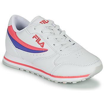 Pantofi Fete Pantofi sport Casual Fila ORBIT LOW KIDS Alb / Roz