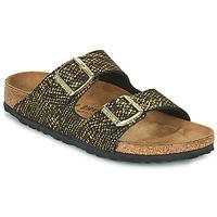 Pantofi Femei Papuci de vară Birkenstock ARIZONA Negru / Auriu