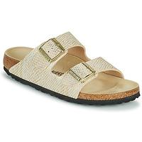 Pantofi Femei Papuci de vară Birkenstock ARIZONA Auriu / Alb