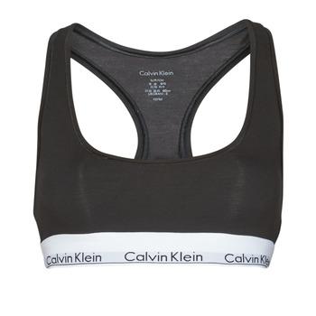 Lenjerie intimă Femei Bustiere sport Calvin Klein Jeans MODERN COTTON UNLINED BRALETTE Negru