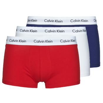 Lenjerie intimă Bărbați Boxeri Calvin Klein Jeans RISE TRUNK X3 Albastru / Alb / Roșu