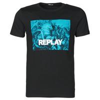 Îmbracaminte Bărbați Tricouri mânecă scurtă Replay M3412-2660 Negru / Albastru