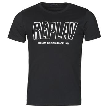 Îmbracaminte Bărbați Tricouri mânecă scurtă Replay M3395-2660 Negru