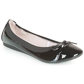 Pantofi Femei Balerin și Balerini cu curea Moony Mood ELALA Lac / Negru