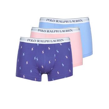 Lenjerie intimă Bărbați Boxeri Polo Ralph Lauren CLASSIC TRUNK X3 Roz / Albastru / Albastru