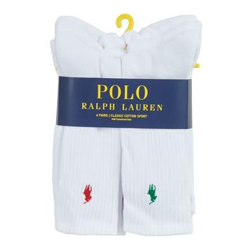 Accesorii Bărbați Sosete Polo Ralph Lauren ASX110 6 PACK COTTON Alb