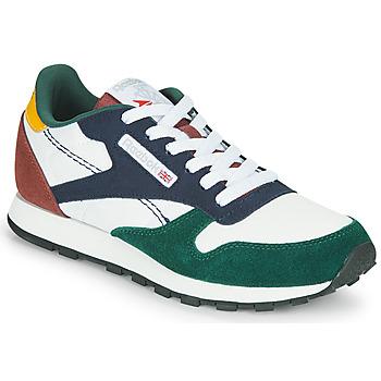 Pantofi Copii Pantofi sport Casual Reebok Classic CL LTHR Alb / Verde / Albastru