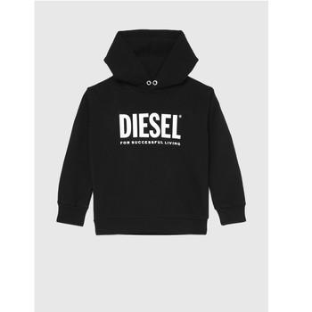 Îmbracaminte Copii Hanorace  Diesel SDIVISION LOGO Negru