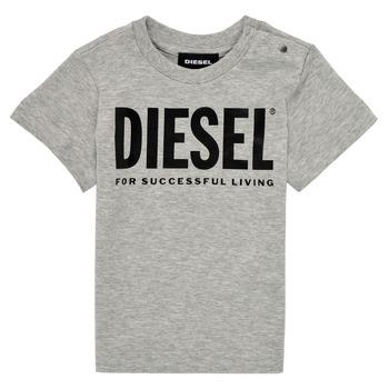 Îmbracaminte Copii Tricouri mânecă scurtă Diesel TJUSTLOGOB Gri