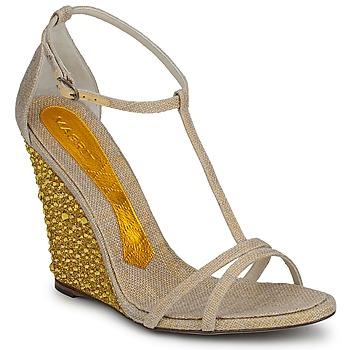 Pantofi Femei Sandale și Sandale cu talpă  joasă Magrit JOAQUINA Bej / Auriu
