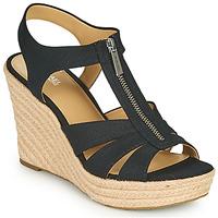 Pantofi Femei Sandale  MICHAEL Michael Kors BERKLEY WEDGE Negru