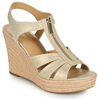 Pantofi Femei Sandale  MICHAEL Michael Kors BERKLEY WEDGE Auriu