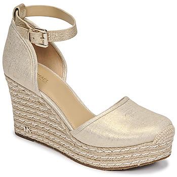 Pantofi Femei Sandale  MICHAEL Michael Kors KENDRICK WEDGE Auriu