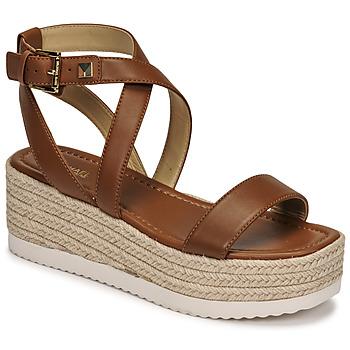 Pantofi Femei Sandale  MICHAEL Michael Kors LOWRY WEDGE Coniac