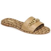 Pantofi Femei Papuci de vară MICHAEL Michael Kors RINA SLIDE Camel