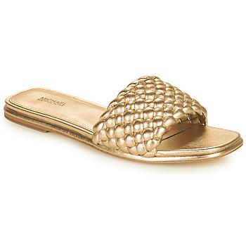 Pantofi Femei Papuci de vară MICHAEL Michael Kors AMELIA FLAT SANDAL Auriu