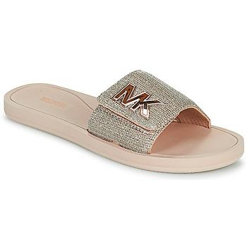 Pantofi Femei Șlapi MICHAEL Michael Kors MK SLIDE Roz / Nude / Auriu