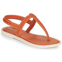 Pantofi Femei  Flip-Flops Melissa FLASH SANDAL & SALINAS Portocaliu / Bej