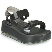 Pantofi Femei Sandale  Melissa PAPETE PLATFORM + RIDER Negru / Gri