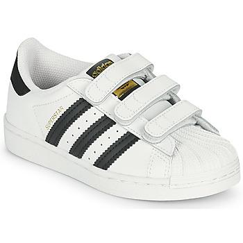 Pantofi Copii Pantofi sport Casual adidas Originals SUPERSTAR CF C Alb / Negru
