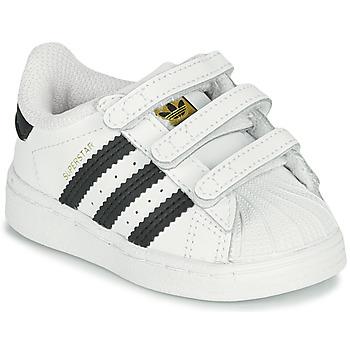 Pantofi Copii Pantofi sport Casual adidas Originals SUPERSTAR CF I Alb / Negru