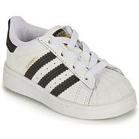 Pantofi Copii Pantofi sport Casual adidas Originals SUPERSTAR EL I Alb / Negru