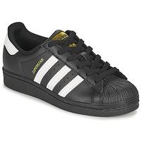 Pantofi Copii Pantofi sport Casual adidas Originals SUPERSTAR J Negru / Alb