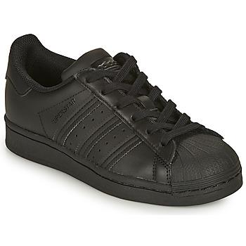 Pantofi Copii Pantofi sport Casual adidas Originals SUPERSTAR J Negru