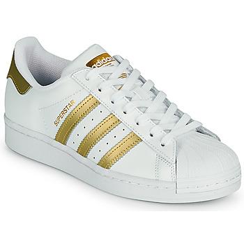 Pantofi Femei Pantofi sport Casual adidas Originals SUPERSTAR W Alb / Auriu