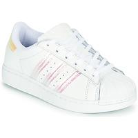 Pantofi Fete Pantofi sport Casual adidas Originals SUPERSTAR J Alb / Iridescent