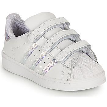Pantofi Fete Pantofi sport Casual adidas Originals SUPERSTAR CF I Alb / Iridescent