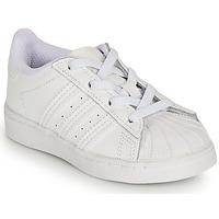 Pantofi Fete Pantofi sport Casual adidas Originals SUPERSTAR EL I Alb / Iridescent