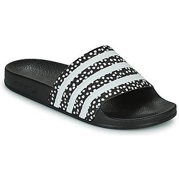 Pantofi Femei Șlapi adidas Originals ADILETTE W Negru / Alb