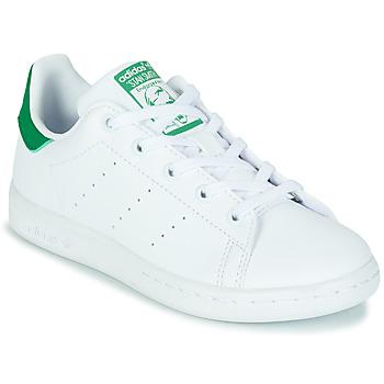 Pantofi Copii Pantofi sport Casual adidas Originals STAN SMITH C SUSTAINABLE Alb / Verde