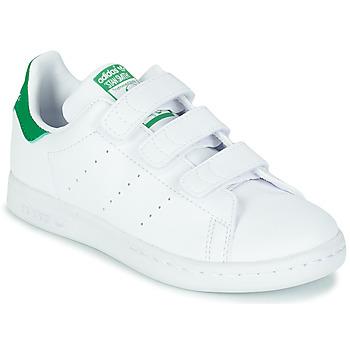 Pantofi Copii Pantofi sport Casual adidas Originals STAN SMITH CF C SUSTAINABLE Alb / Verde / Vegan